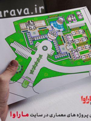 پلان معماری دبیرستان